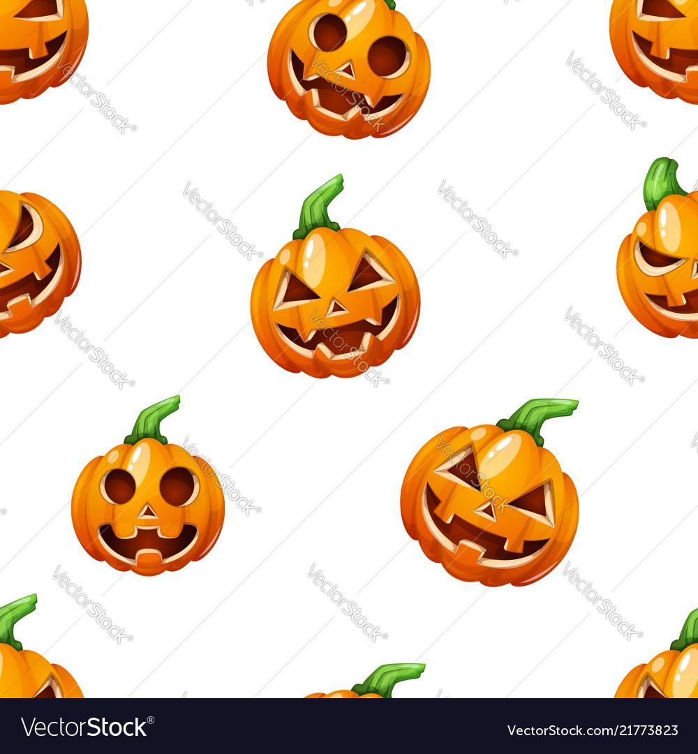Pumpkin pattern horror halloween