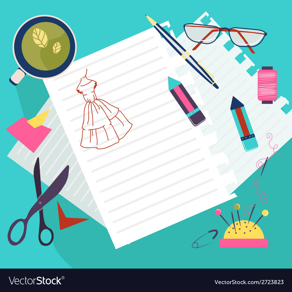 Sewing flat design vector image