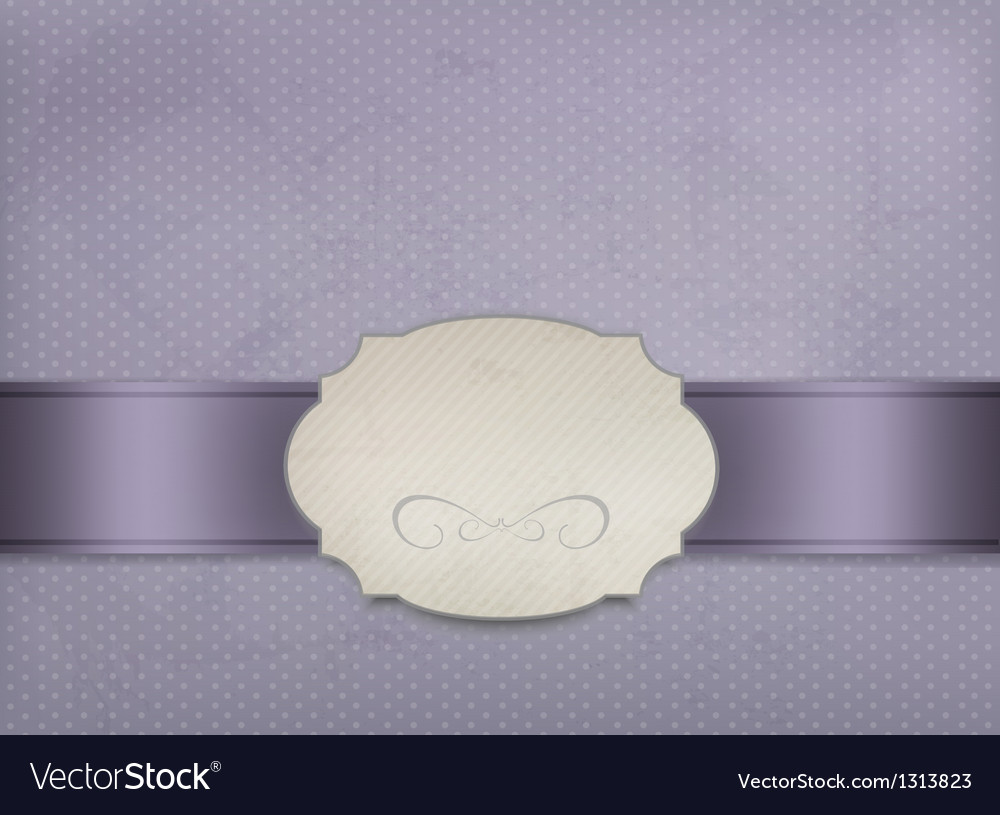 Vintage background with ornament frame vector image