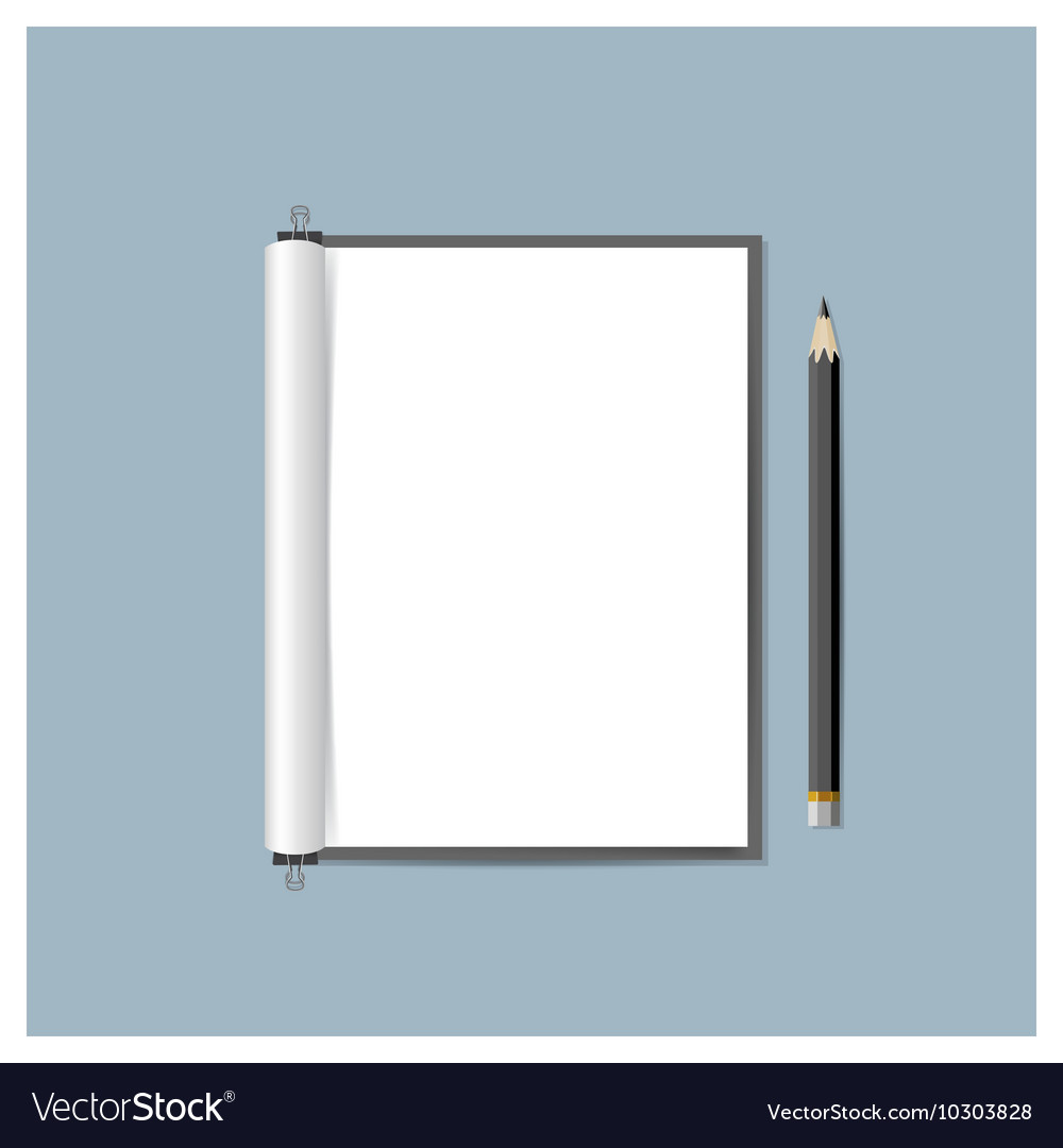 Blank catalog magazine book template with soft vector image on VectorStock