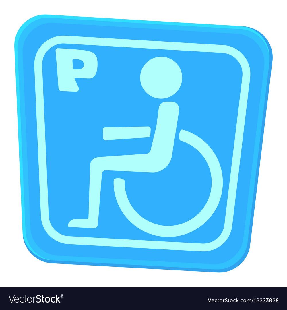 Invalid parking icon cartoon style