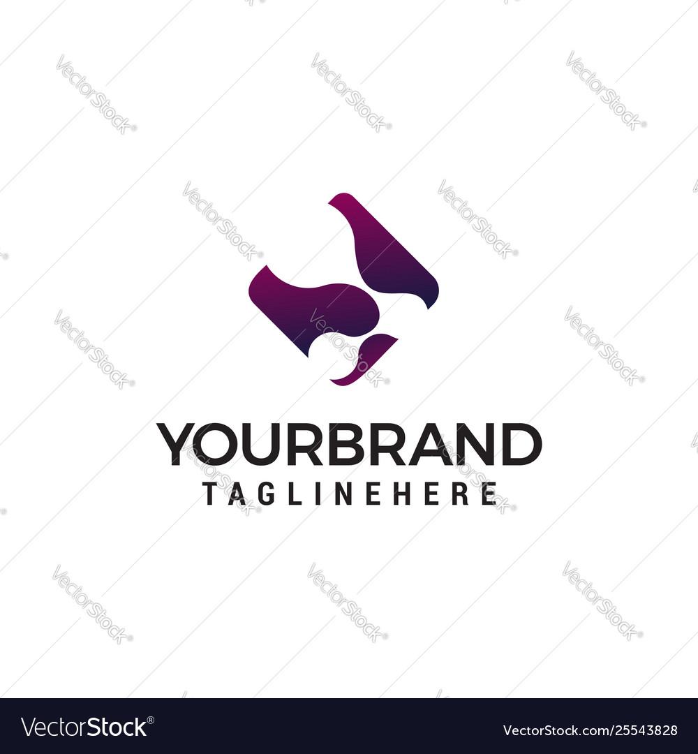 Molecule logo design concept template