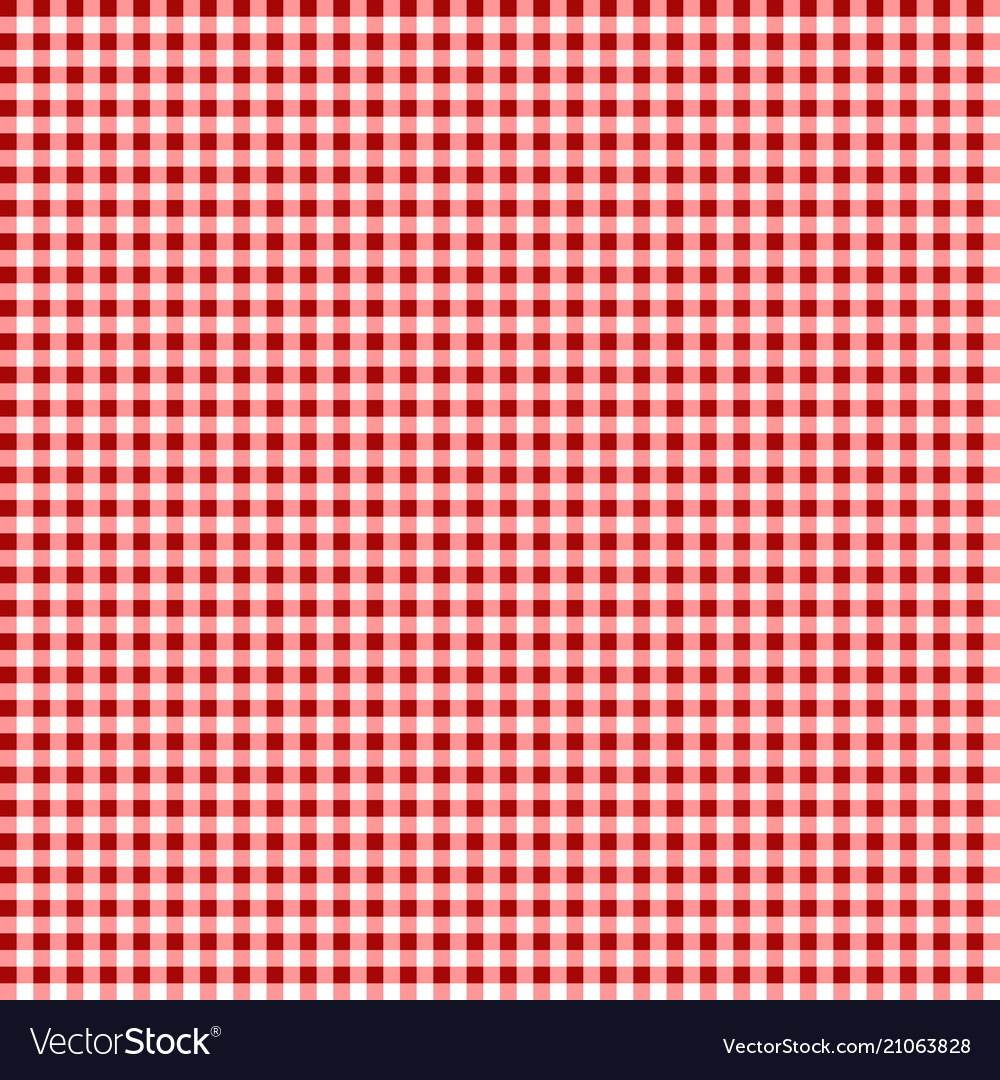 Picnic Table Cloth Seamless Checkered Vector Image