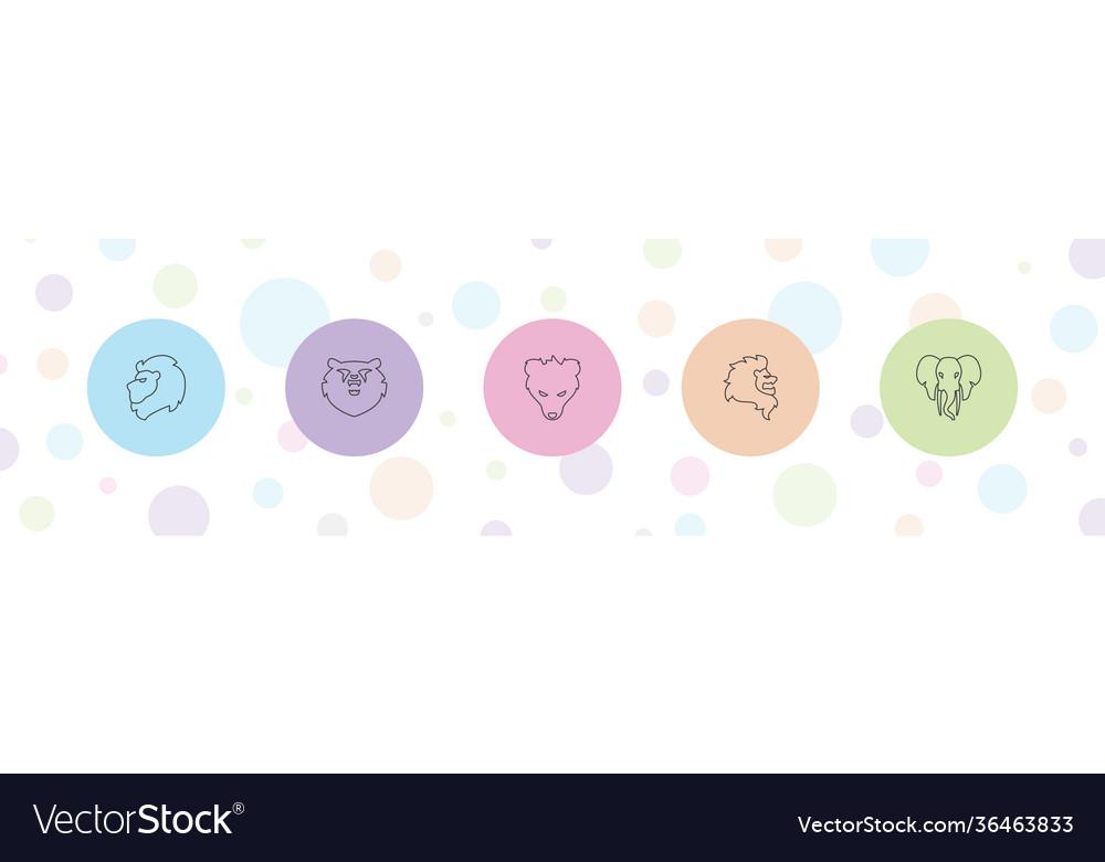 5 mammal icons