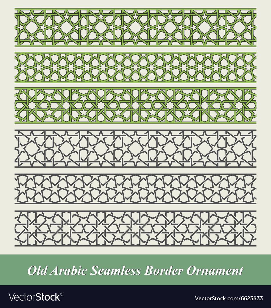 Arabic and Islamic seamless border ornament