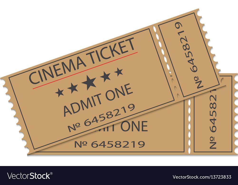 Cinema tickets with shadow