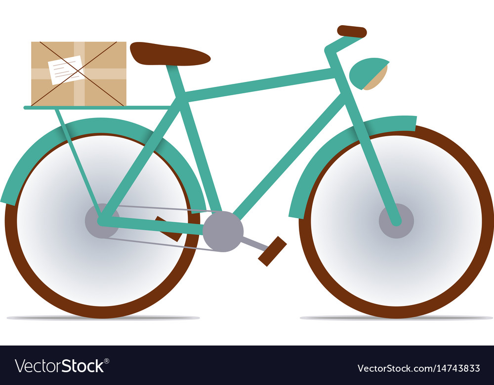 Flat fixed-gear bike with a package