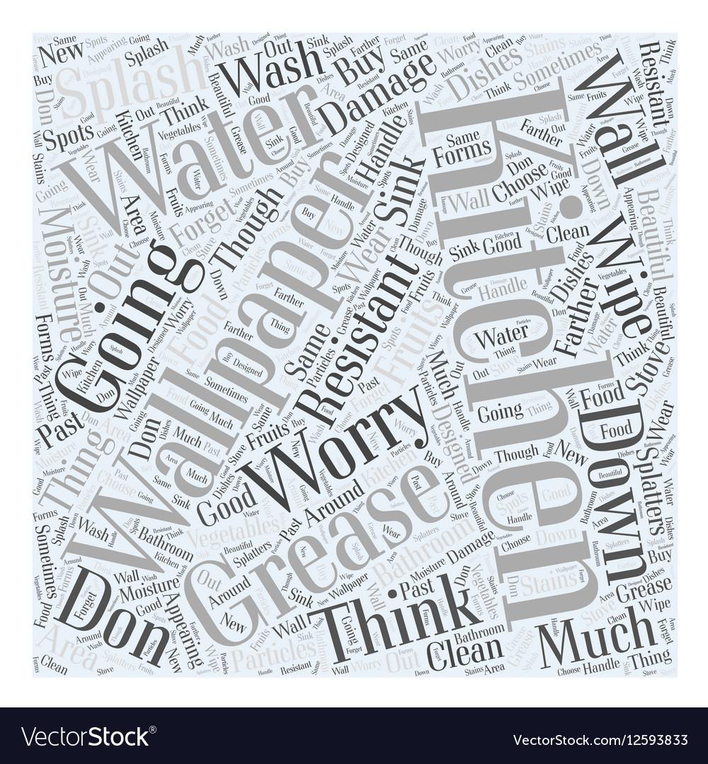 Kitchen wallpaper Word Cloud Concept vector image