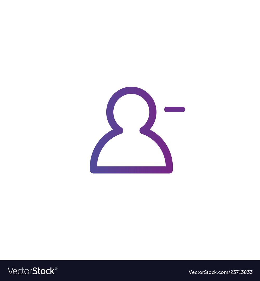 Purple linear outline remove or delete person