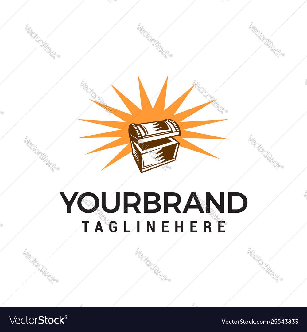 Treasure box logo design concept template