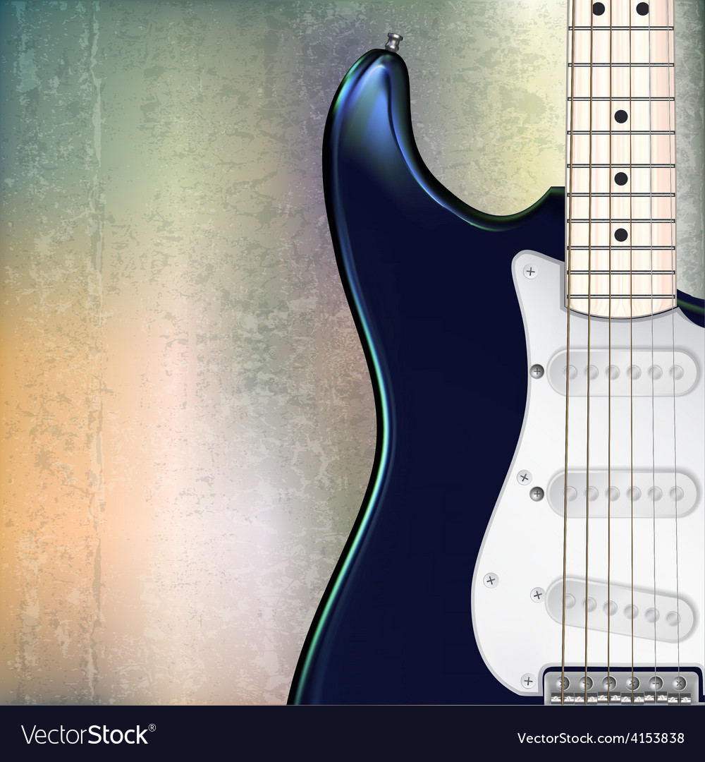 Abstract grunge jazz rock background with blue vector image