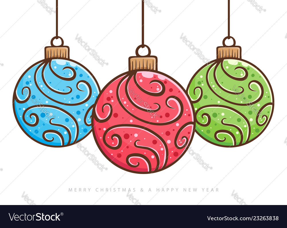 christmas ball ornament hand drawing royalty free vector vectorstock