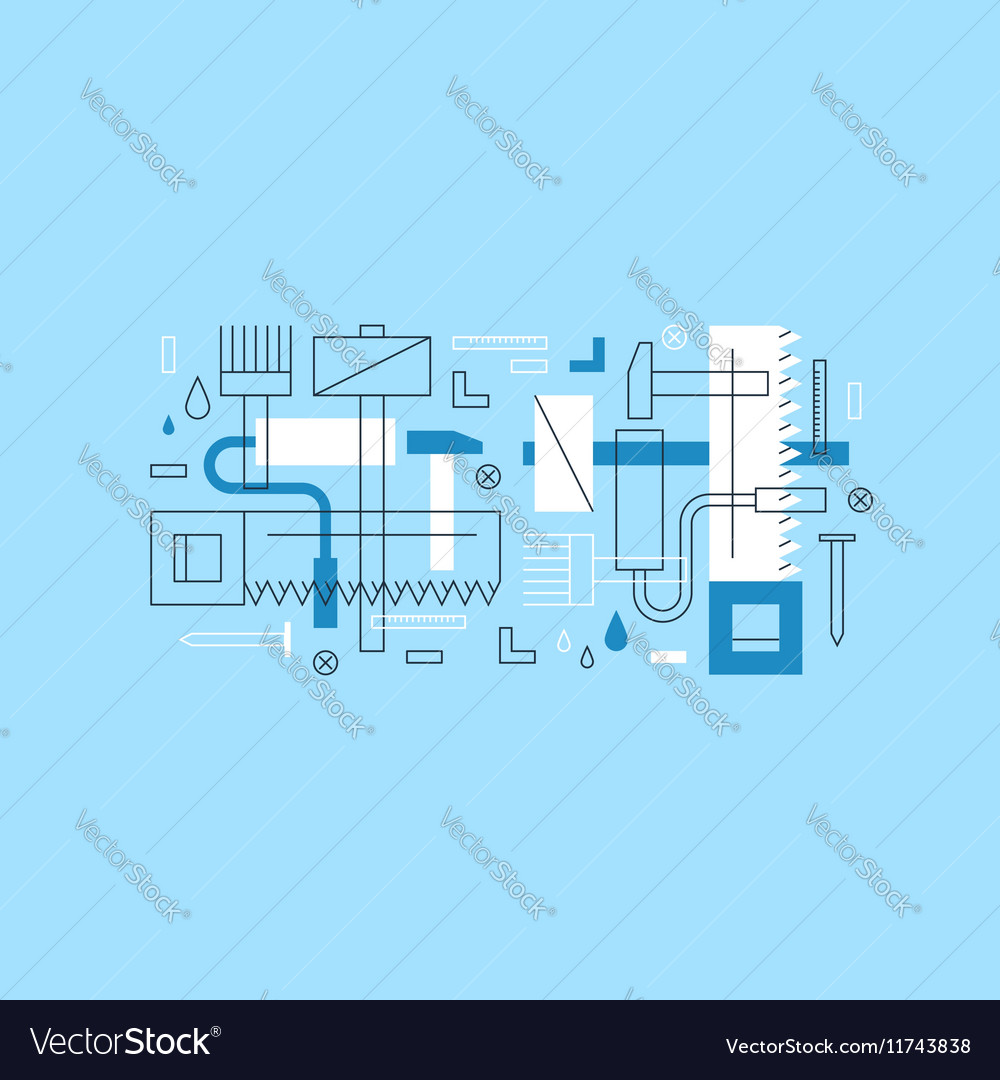 Construction instruments pattern and backdrop vector image