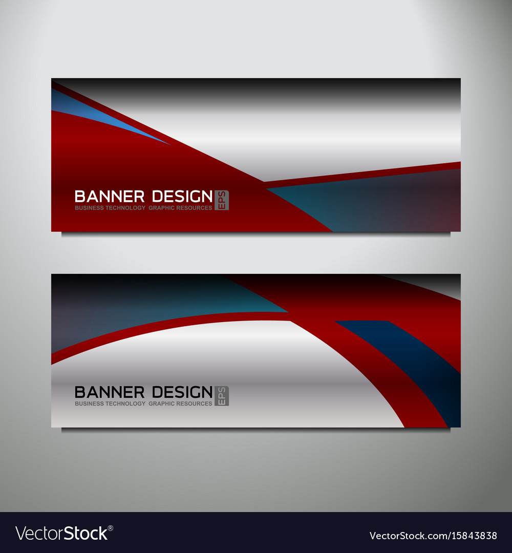 Curve silver banner vector image