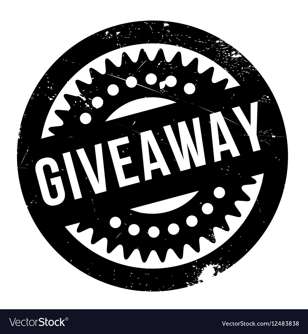 Giveaway rubber stamp