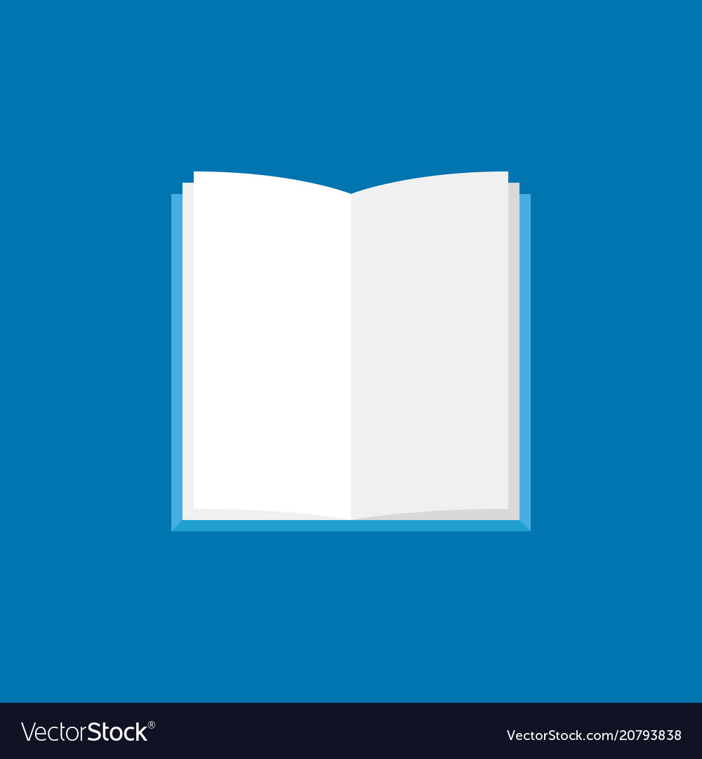 Open book icon flat book with white pages