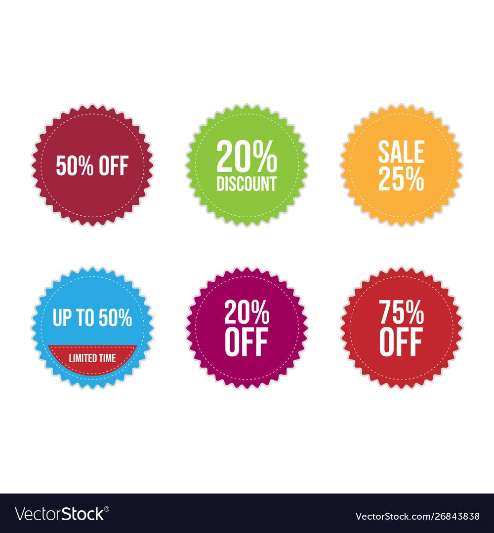 Sale label icons set design image