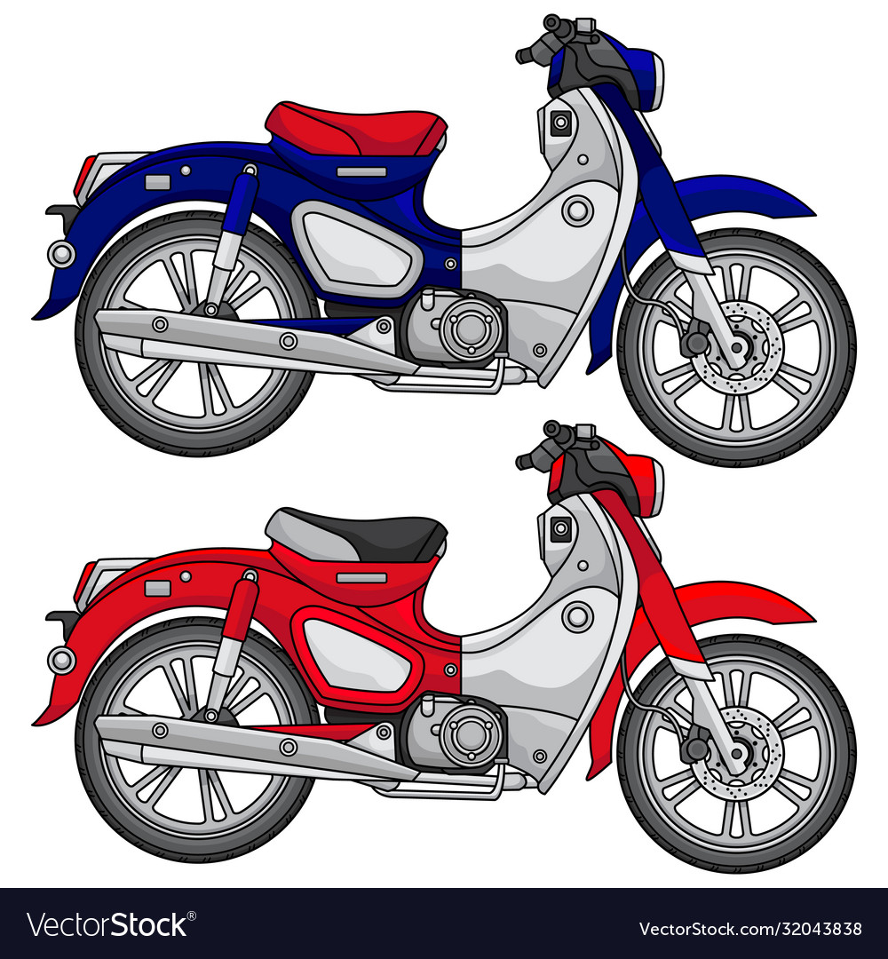 Simple classic motorcycle