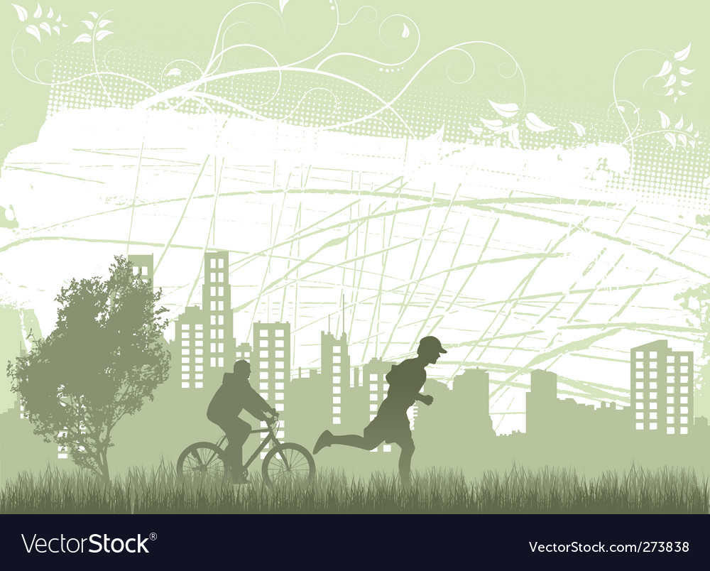 Sporting people vector image