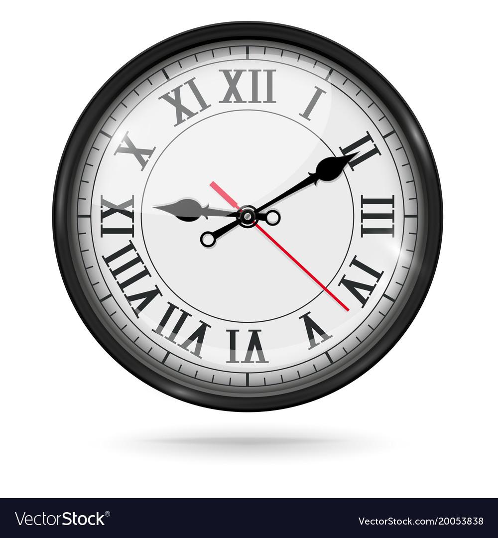 Vintage Clock With Roman Numerals Vector Image