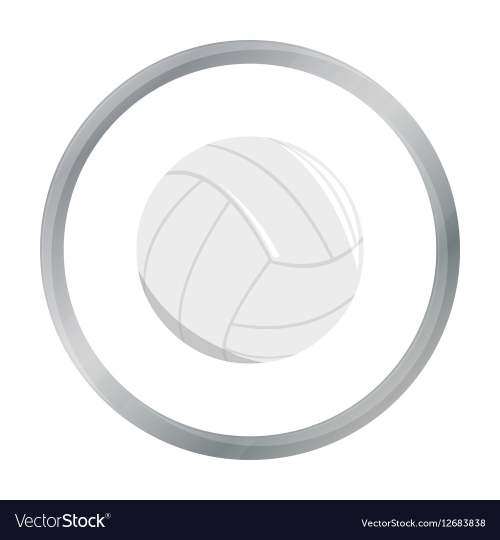 Volleyball icon cartoon Single sport icon from