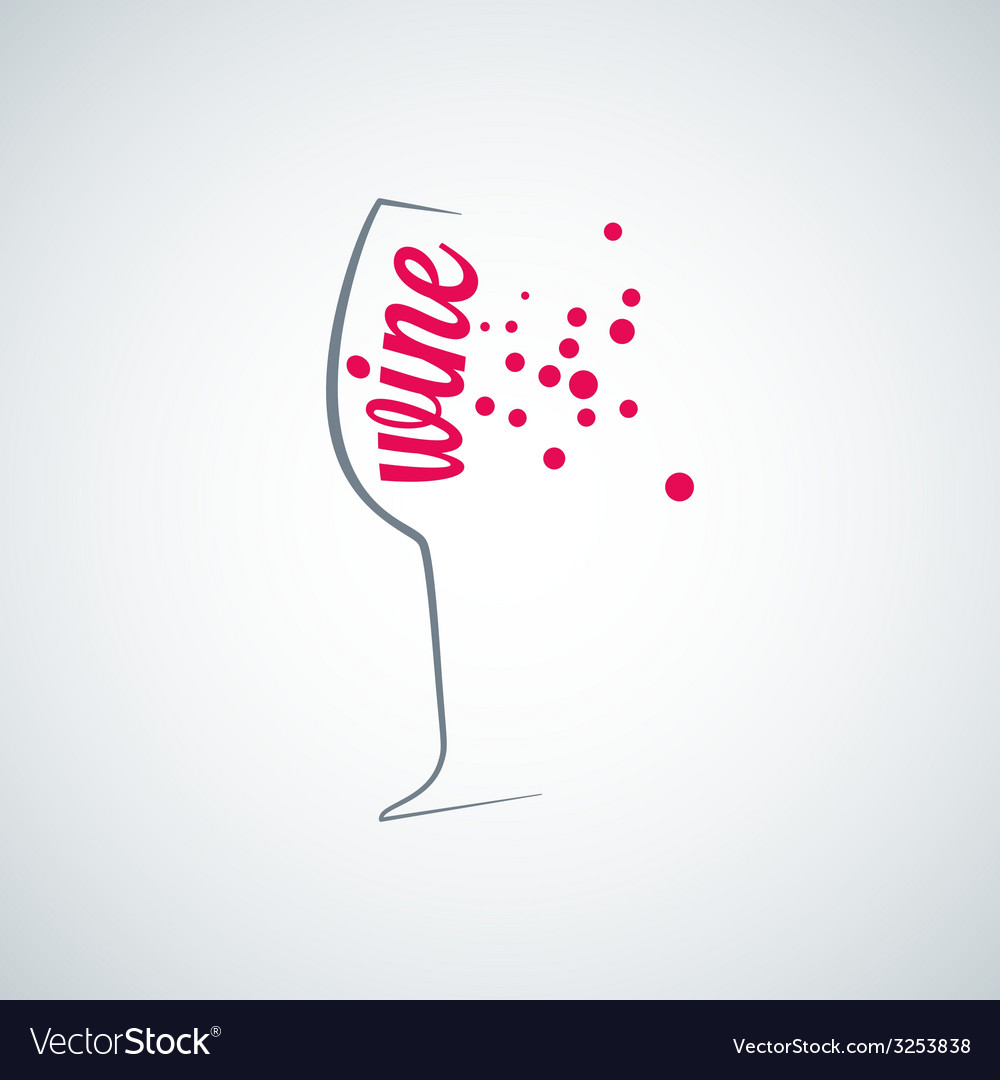 Wine glass splash menu background