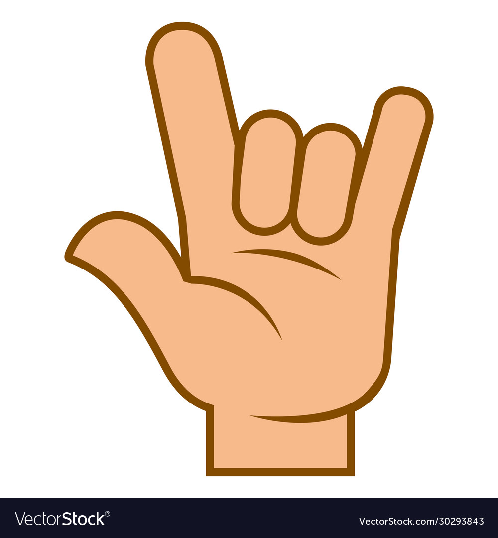 Arm body language symbol hand devil horns