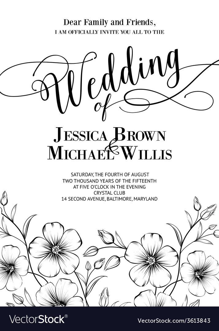 awesome wedding invitation royalty free vector image