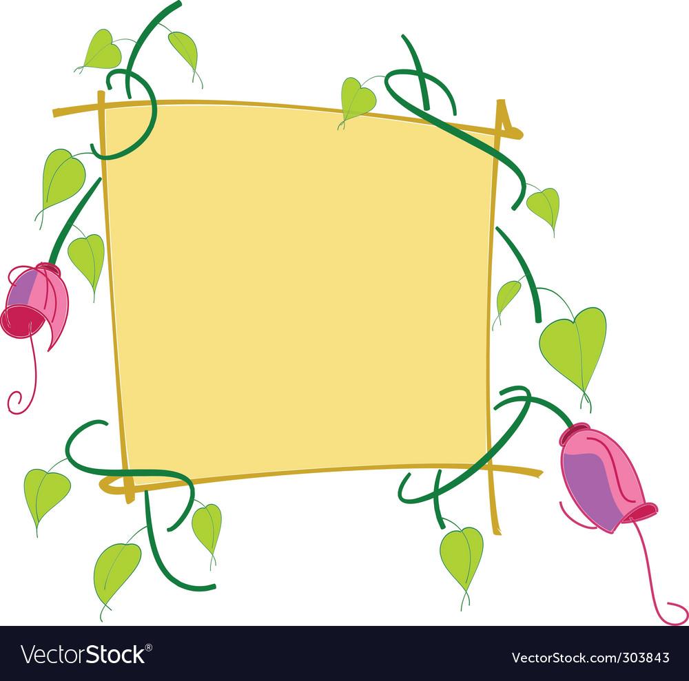 Border flowers vector image