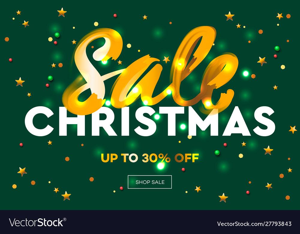 Christmas sale web banner e-commerce online shop