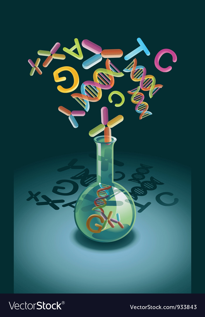 Genetic Engineering vector image