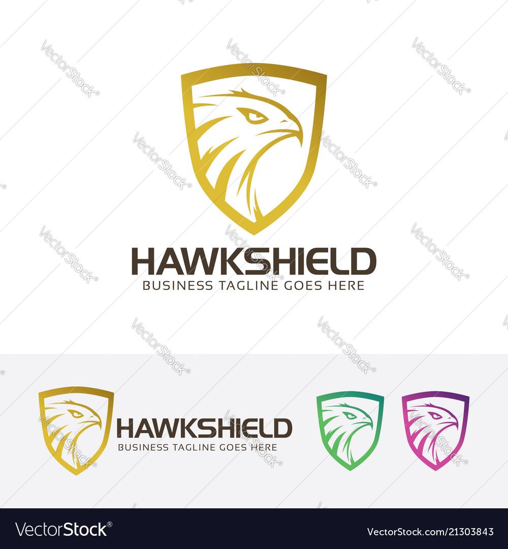 Hawk shield logo design