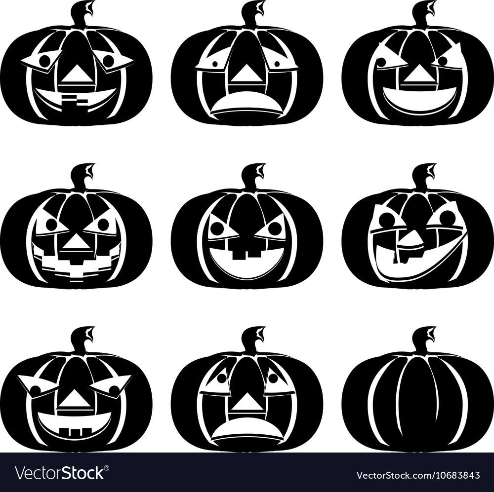 Pumpkins Set for Halloween