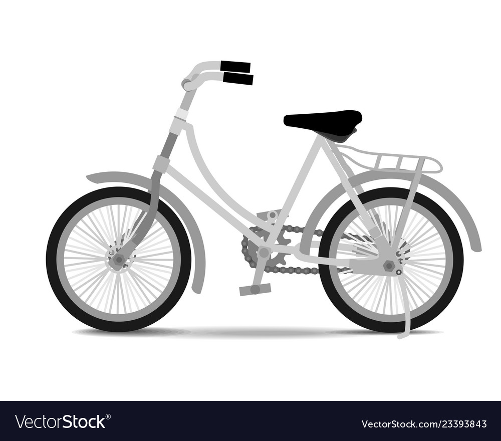 Vintage bicycle on white background