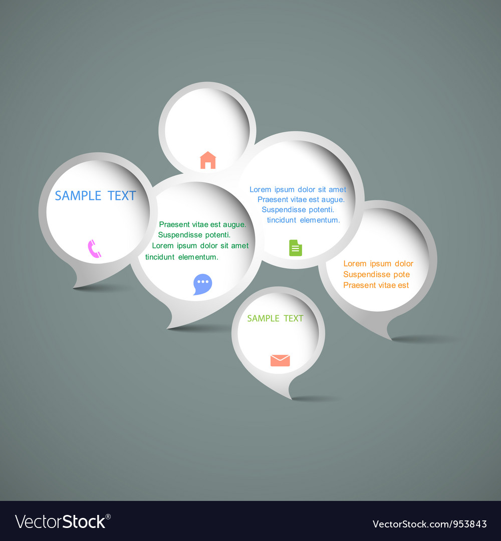 Web design speech bubbles vector image