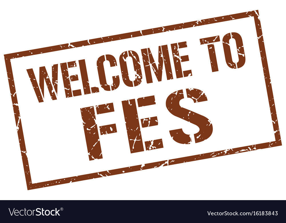 Welcome to fes stamp vector image on VectorStock