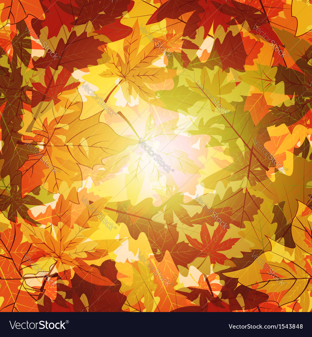 Abstract Autumn Leaf Seamless Background