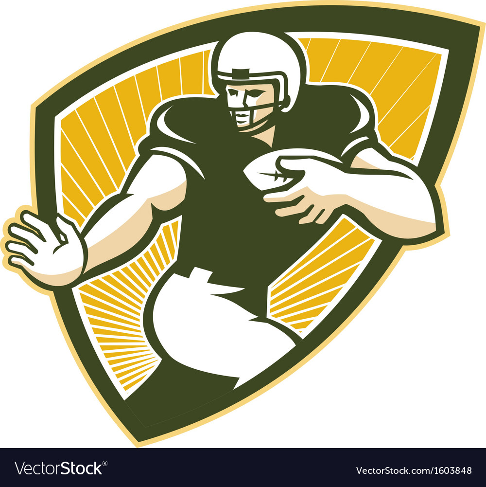 American Football Running Back Shield vector image