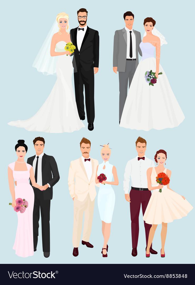 Beautiful elegant Wedding couples man and women