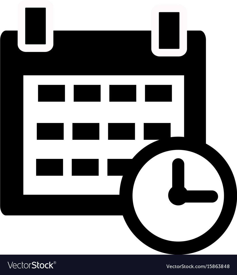 calendar icon on white background calendar sign vector image rh vectorstock com download calendar icon vector calendar icon vector cdr