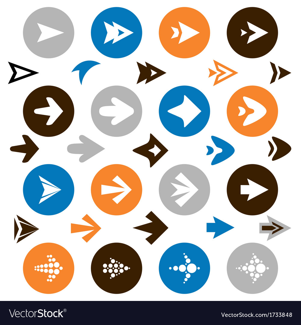 Collection arrow icons