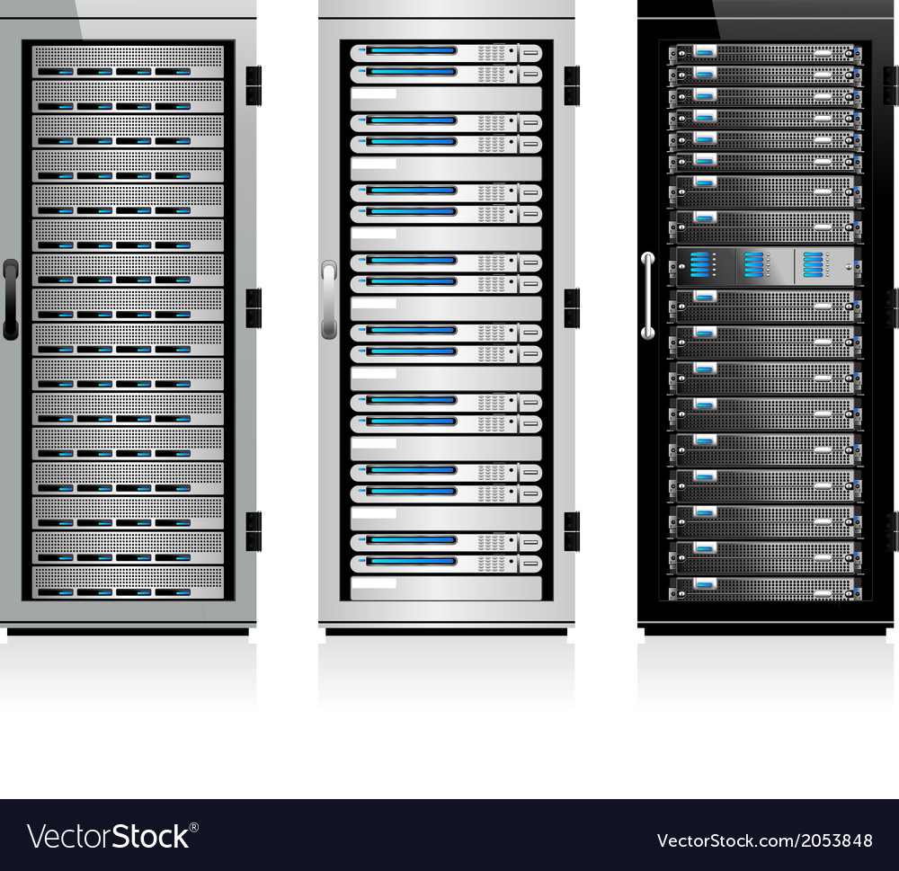 Servers vector image