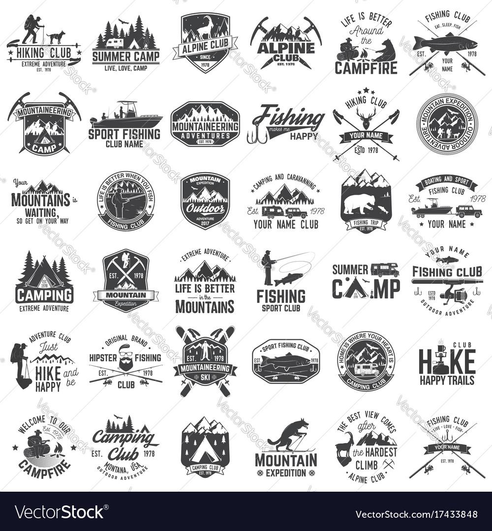 Set extreme adventure badges concept for shirt