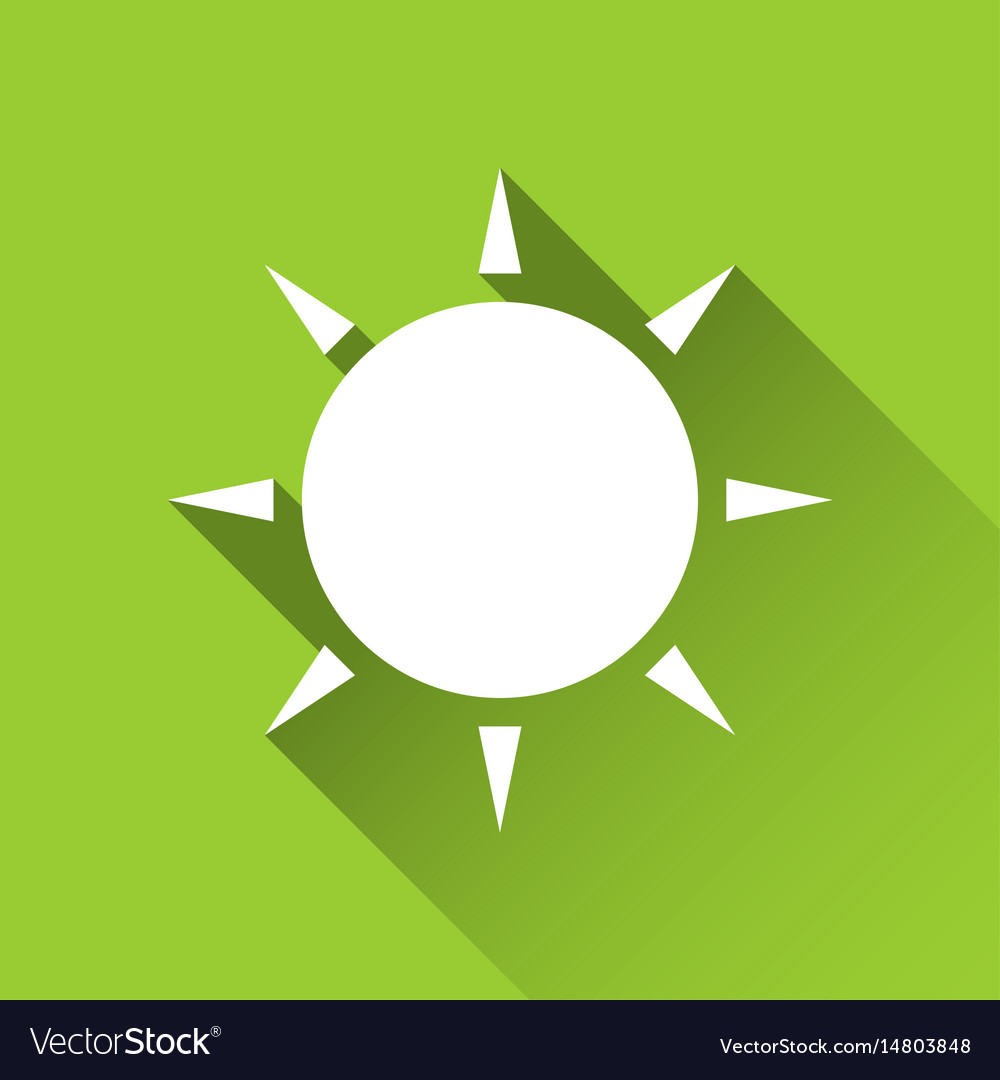 Simple sun icon modern flat style icon vector image