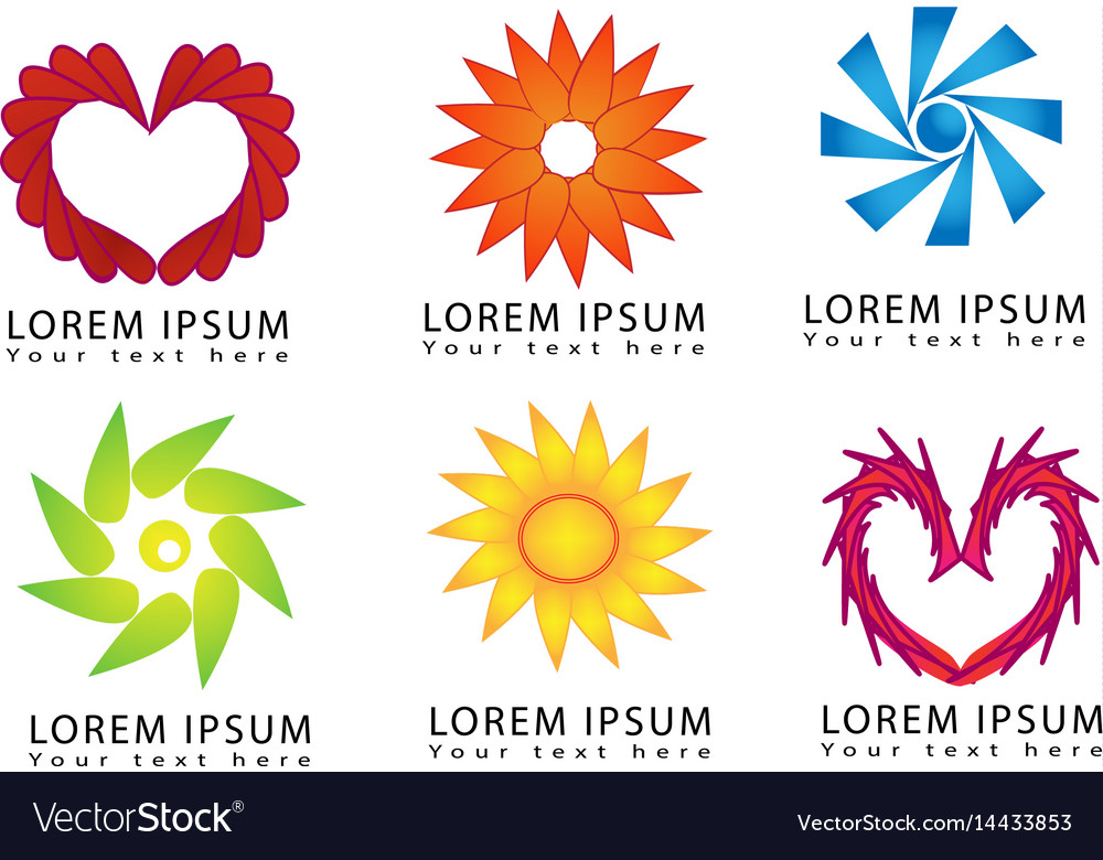 Abstract round shapes for business logo design vector image