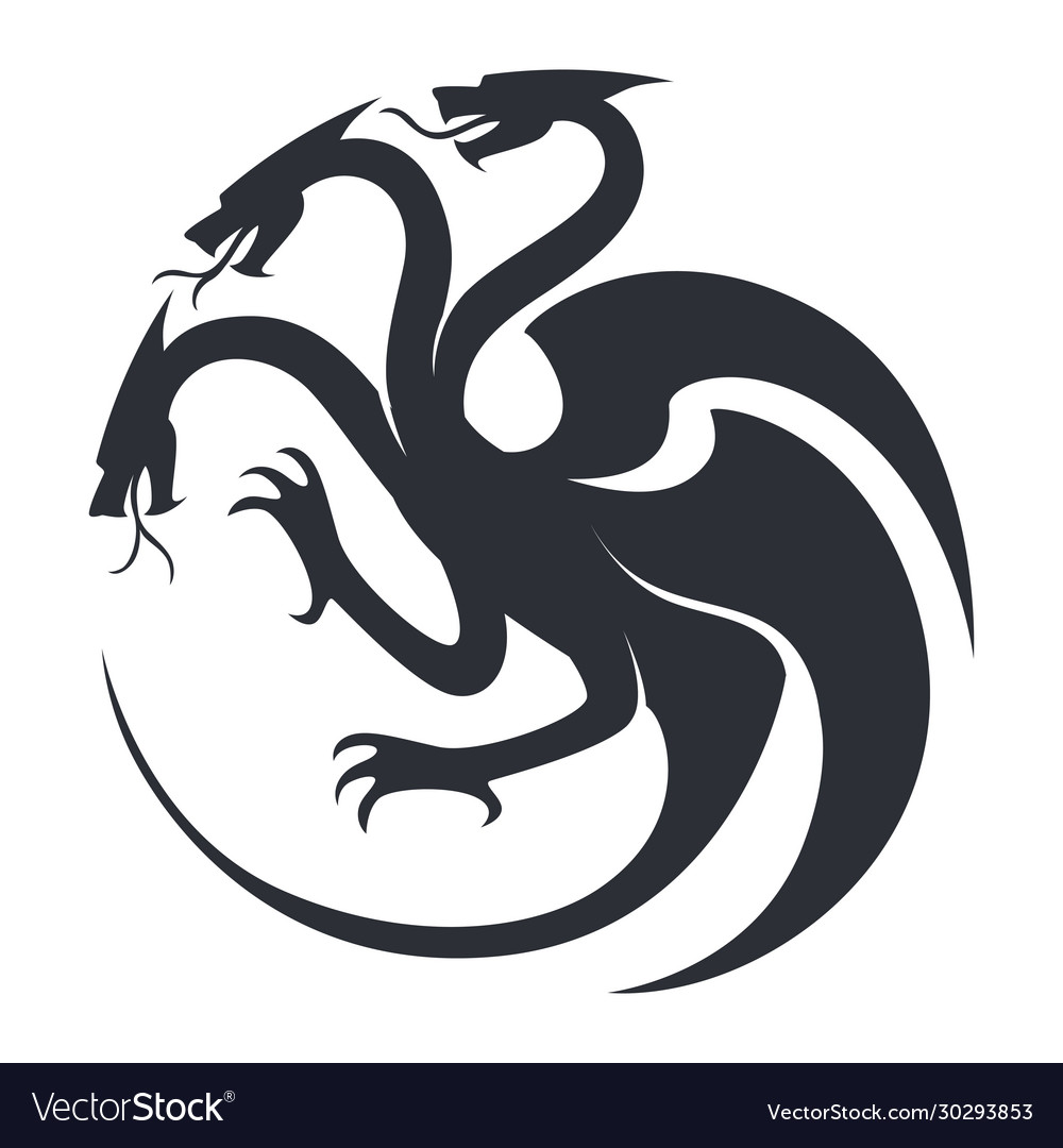 Beast sketch silhouette or tattoo icon fantasy