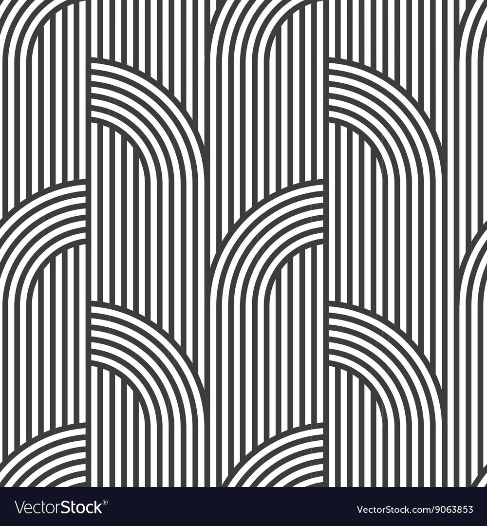 Black and white geometric striped seamless pattern