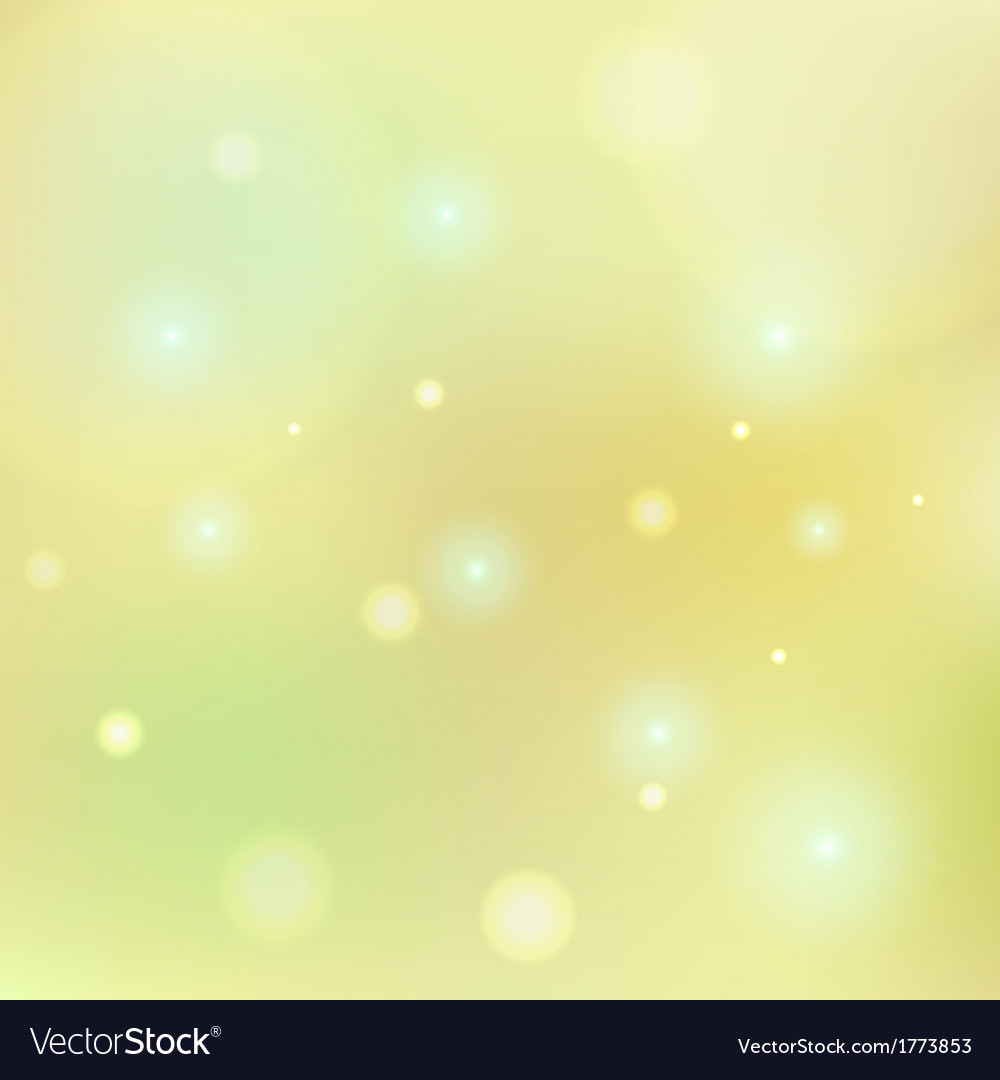 Bokeh Lemon Yellow Tone Background Vector Image