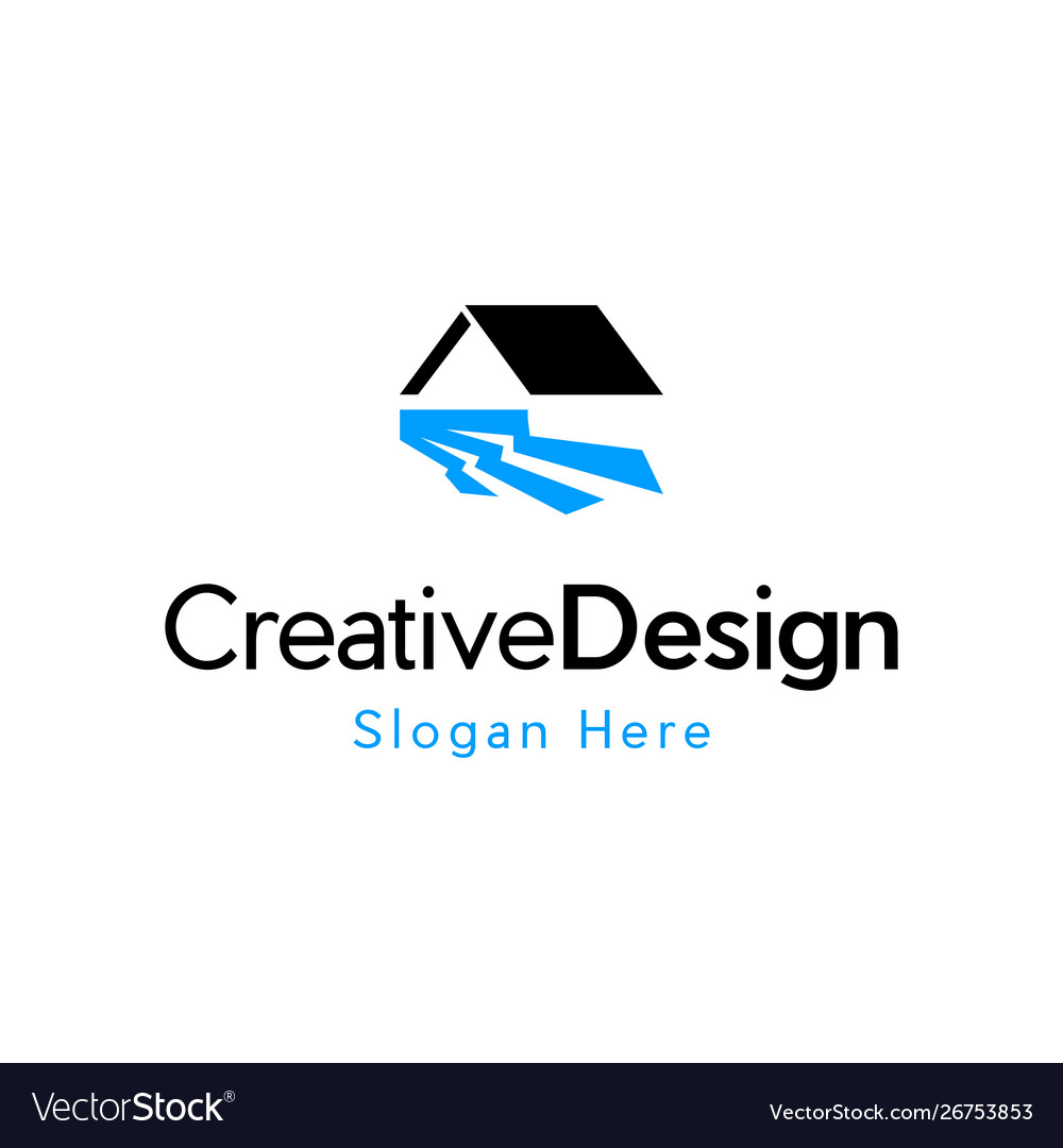 Home water river creative business logo vector image