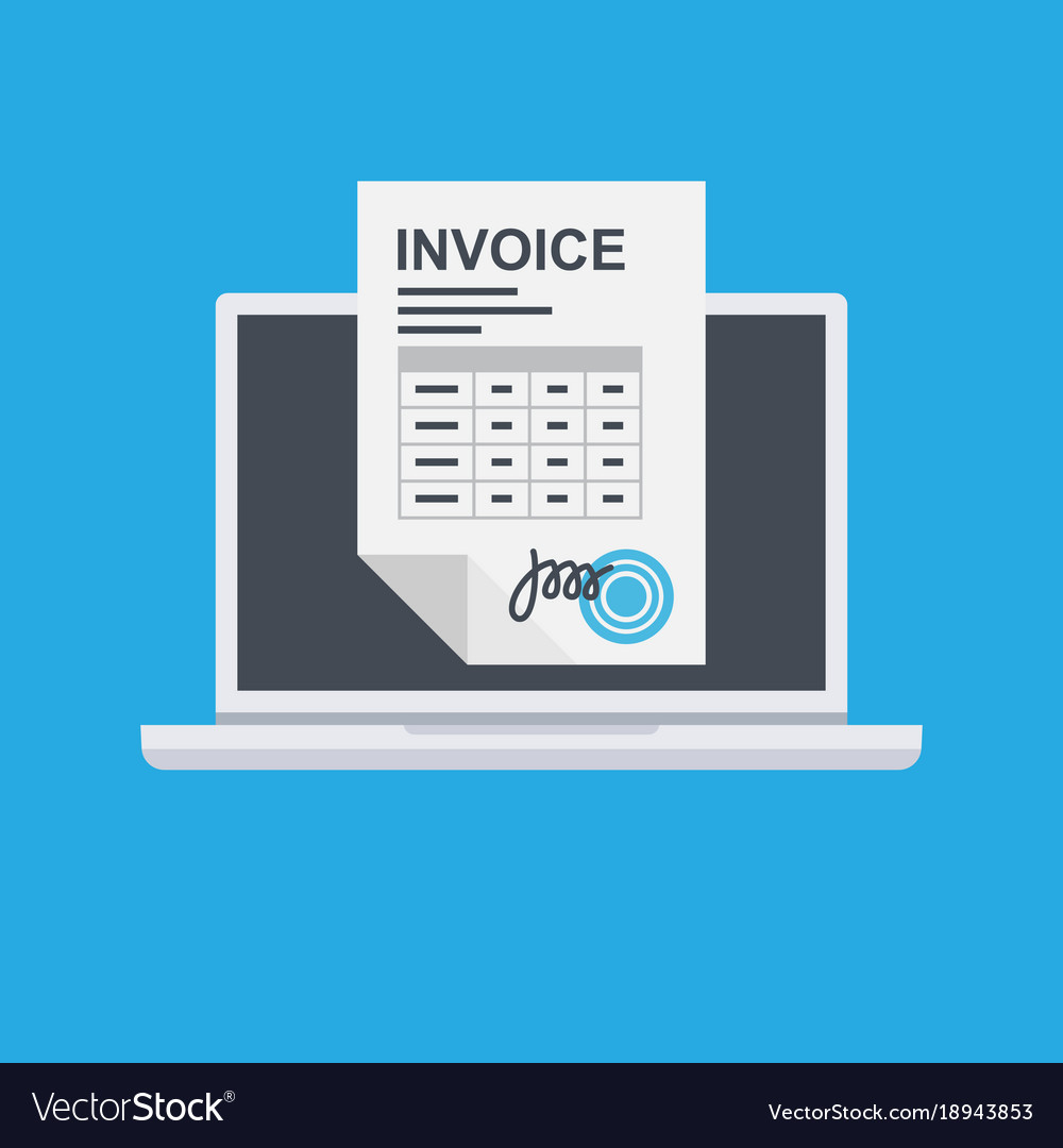 invoice invoicing online service pay royalty free vector